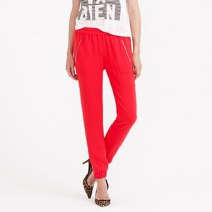 J.Crew Red Turner Pant-Size 10
